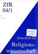 Zeitschrift F R Religionswissenschaft