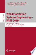 Web Information Systems Engineering     WISE 2019