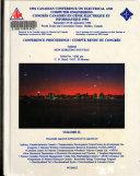 Compte Rendu Du Congr S Congr S Canadien En G Nie Lectrique Et Informatique 1994 Book PDF