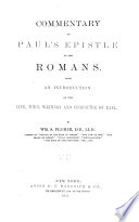 Commentary on Paul s Epistle to the Romans