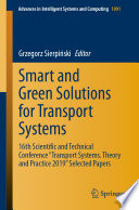 Smart and Green Solutions for Transport Systems