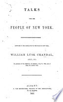 Talks with the People of New York  etc Book