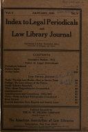 Index To Legal Periodicals