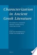 Characterization in Ancient Greek Literature