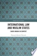 International Law And Muslim States