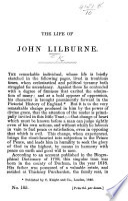 The Life of John Lilburne Book