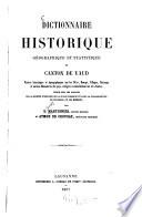 Dictionnaire historique, géographique & statistique de canton de Vaud