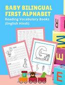 Baby Bilingual First Alphabet Reading Vocabulary Books  English Hindi