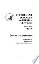 Agriculture  Rural Development  Food and Drug Administration  and Related Agencies Appropriations for 2015 Book