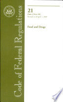 Code Of Federal Regulations Title 21 Food And Drugs