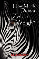 How Much Does a Zebra Weigh