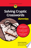 Solving Cryptic Crosswords For Dummies PDF