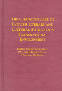 The Changing Face of English Literary and Cultural Studies in a Transnational Environment