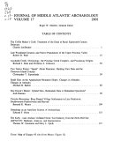 Journal of Middle Atlantic Archaeology