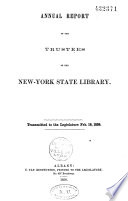 Annual Report Of The Trustees Of The New York State Library