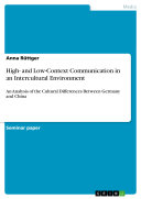 High- and Low-Context Communication in an Intercultural Environment Pdf/ePub eBook