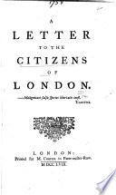 A Letter to the Citizens of London