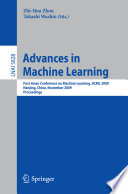 Advances In Machine Learning Book PDF