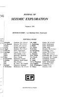 Journal of Seismic Exploration