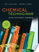 Chemical Technicians  Ready Reference Handbook  5th Edition