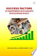 Success Factors of Independent Restaurant in Kawarang Barat