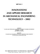 Innovations and Applied Research in Mechanical Engineering Technology