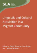Pdf Linguistic and Cultural Acquisition in a Migrant Community Telecharger