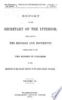Report of the Commissioner of Education [with Accompanying Papers].