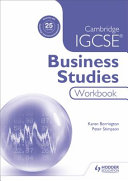 Books - Cam/Ie Igcse Business Studies Wb | ISBN 9781471894633