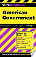 CliffsQuickReview American Government Book