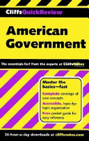 CliffsQuickReview American Government Pdf/ePub eBook