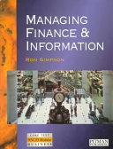 Managing Finance and Information Book