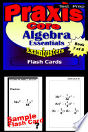 PRAXIS Core Test Prep Algebra Review  Exambusters Flash Cards  Workbook 7 of 8