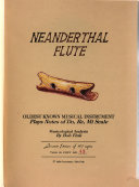 Neanderthal Flute Book