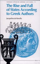 The Rise and Fall of States According to Greek Authors
