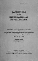 Yardsticks for International Development