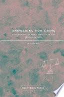 Answering for Crime Book