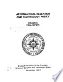 Aeronautical Research and Technology Policy  Final report