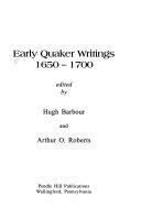 Early Quaker Writings 1650 1700