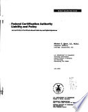 Federal Certification Authority Liability And Policy