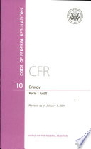 Code Of Federal Regulations Title 10 Energy Pt 1 50 Revised As Of January 1 2011