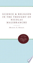 Science and Religion in the Thought of Nicolas Malebranche