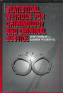 Statistical Methods for Criminology and Criminal Justice