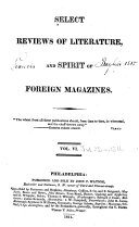 Select Reviews of Literature, and Spirit of the Foreign Magazines