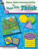 Rhymes  Riddles   Reasoning Activities to Make Kids Think  Grade Pre K