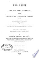 The Urine And Its Derangements