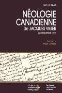 Néologie canadienne de Jacques Viger Pdf/ePub eBook