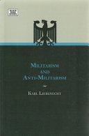 Militarism and Anti Militarism