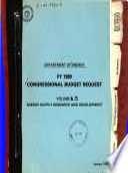 Congressional Budget Request
