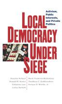 Pdf Local Democracy Under Siege